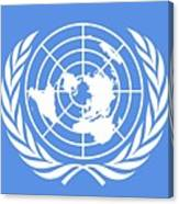 Flag Of The United Nations Canvas Print
