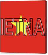 Flag Of Vietnam Word Canvas Print