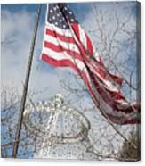 Flag Over Spokane Pavilion Canvas Print