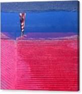 Flag Reflection In Water 1 Casa Grande Arizona 2005 Canvas Print