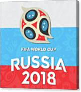 Flag Russia World Cup Canvas Print