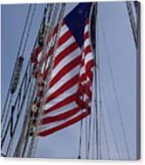 Flag Tall Ship Canvas Print