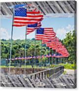 Flag Walk 2 Canvas Print