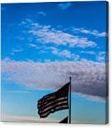 Flag With The Clouds Canvas Print