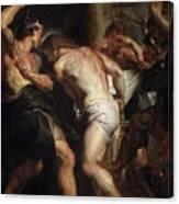 Flagellation Of Christ 2 Peter Paul Rubens Canvas Print
