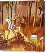 Flagging Deer Canvas Print
