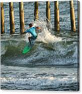 Flagler Beach Surf Day Canvas Print
