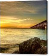 Flagler Bridge At Sunset Canvas Print