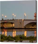 Flagler Bridge In Lights IIi Canvas Print