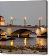Flagler Bridge In Lights Iv Canvas Print