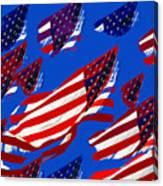 Flags American Canvas Print