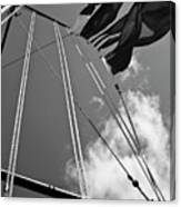 Flags In The Wind Canvas Print
