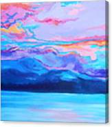 Flagstaff Lake Winter Sunset Canvas Print