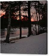 Flambeau Sunset Canvas Print