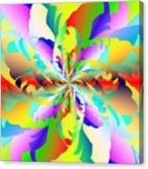 Flamboyant Fractal Fire Flower Canvas Print
