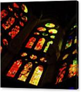 Flamboyant Stained Glass Window Canvas Print