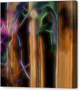 Flame Flower And Bamboo Canvas Print