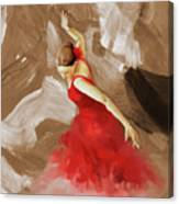 Flamenco Dance Women 02 Canvas Print