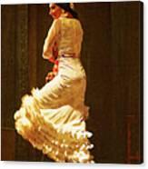 Flamenco Dancer #20 - The White Dress Canvas Print