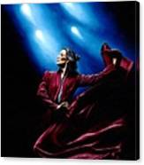 Flamenco Performance Canvas Print