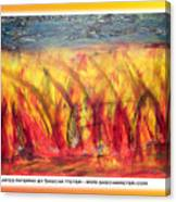 Flames Inferno On A Nice Background - Postcard Canvas Print