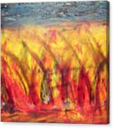 Flames Inferno Canvas Print