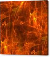 Flaming Background Canvas Print