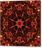 Flaming Catherine Wheel Canvas Print