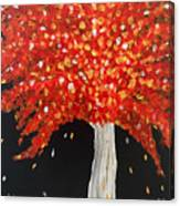 Flaming Fiery Fall Canvas Print