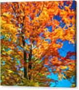 Flaming Maple - Paint Canvas Print