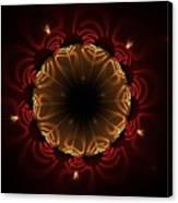 Flaming Night Flower Canvas Print