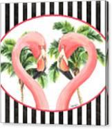 Flamingo Amore 5 Canvas Print