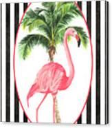 Flamingo Amore 7 Canvas Print