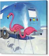 Flamingo Migration Canvas Print