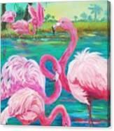 Flamingo Vacation Canvas Print