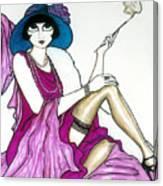 Flapper Girl 4 Canvas Print
