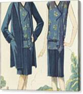 Flappers In Frocks And Coats, 1928  Canvas Print