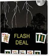 Flash Deal  Poker Cards Canvas Print