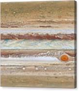 Flat Map Of Jupiter Canvas Print