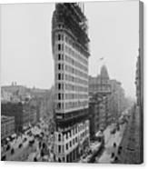 Flatiron Building During Construction Canvas Print