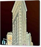 Flatiron Building Inverted Canvas Print