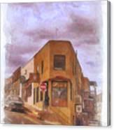 Flatiron Building Of Jerome Arizona Canvas Print