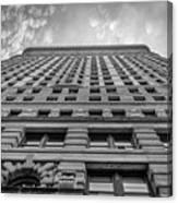 Flatiron Building Sky Black And White Canvas Print