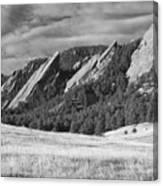 Flatiron Morning Light Boulder Colorado Bw Canvas Print