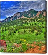 Flatirons And Clouds Canvas Print