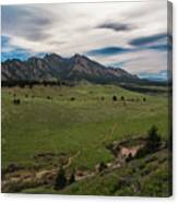 Flatirons From South Trails Canvas Print