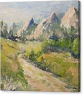 Flatirons In The Rockies Canvas Print