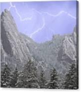Flatirons Lightning Canvas Print