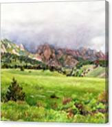 Flatirons Vista Canvas Print