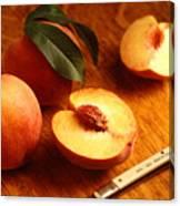 Flavorcrest Peaches Canvas Print